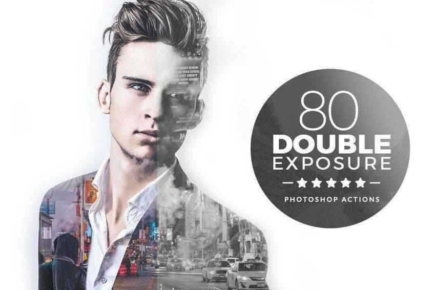 80 Double Exposure Photoshop Actions