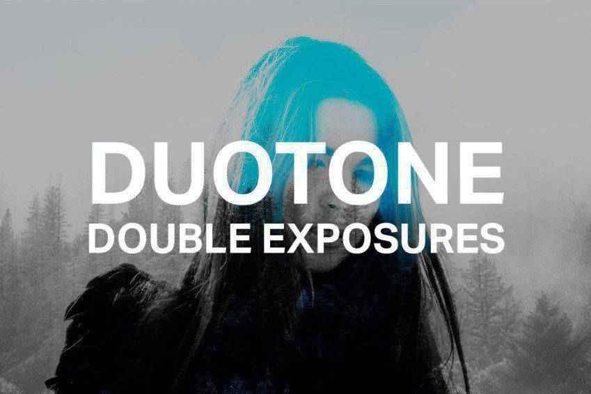 Duotone Double Exposure Photoshop Actions