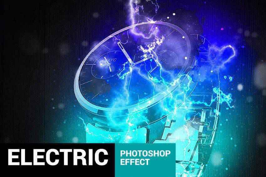 Electrum Lightning Photoshop Action