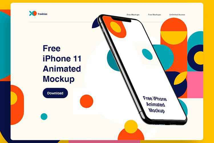 Example from iPhone 11 Pro Twisted Animation Mockup