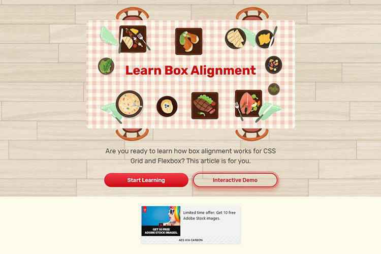 Example from Learn Box Alignment