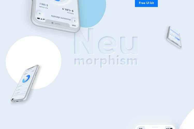 Example from Neumorphism UI kit