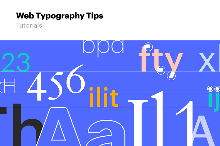 Example from Web Typography Tips