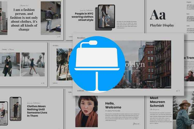 Example from 25 Free Keynote Templates for Creatives