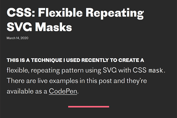 Example from CSS: Flexible Repeating SVG Masks