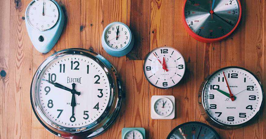 time clock wall timeframe vintage