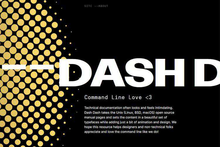 Example of -- Dash Dash