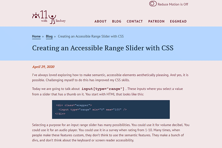 Example from Creating an Accessible Range Slider with CSS