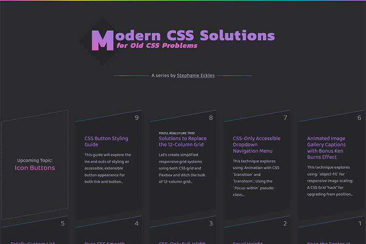 Example from Modern CSS Solutions for Old CSS Problems