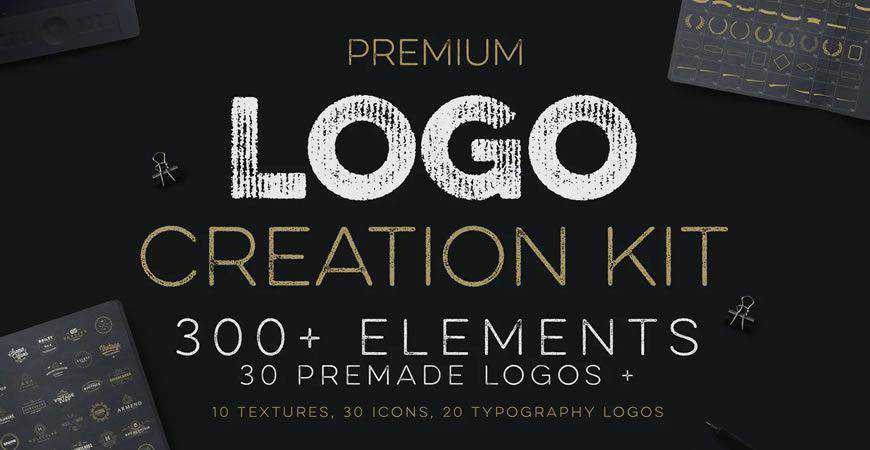 Vintage logo creator kit template