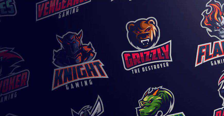 sports Gaming logo creator kit template