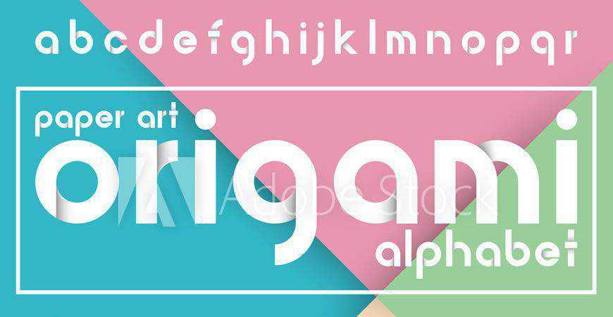 Decorative Origami Alphabet logo font typeface logotype