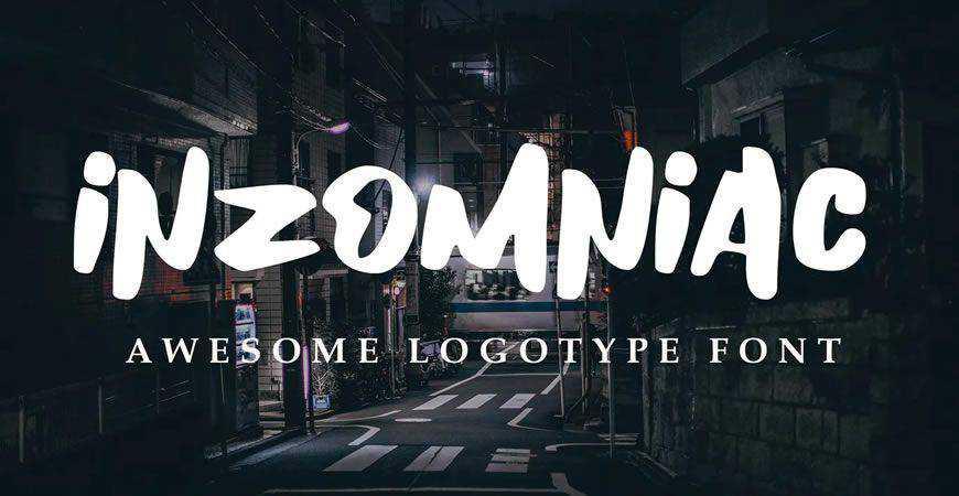 Inzomniac logo font typeface logotype