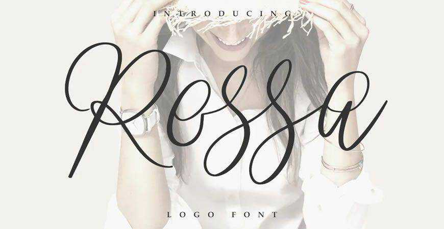Rossa Script logo font typeface logotype