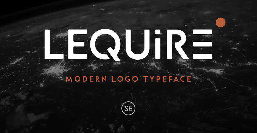 Lequire Modern Sans logo font typeface logotype