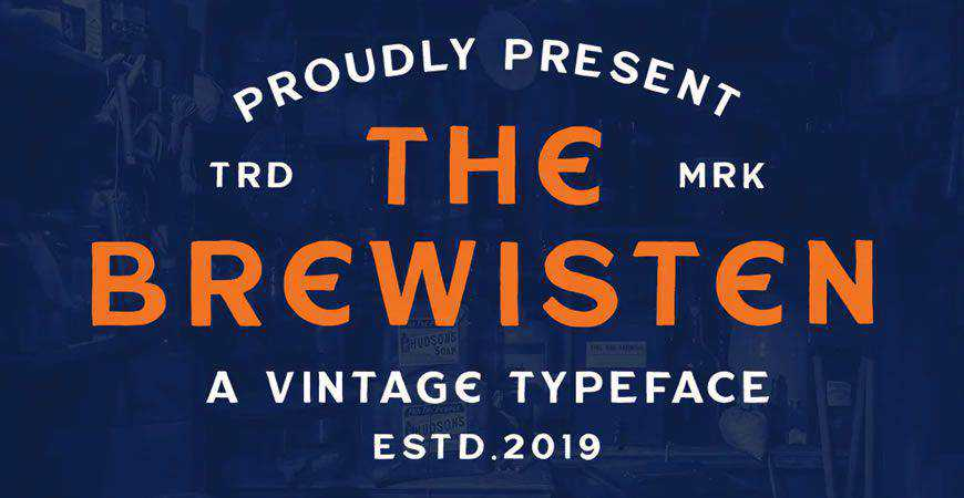 Brewisten Vintage logo font typeface logotype