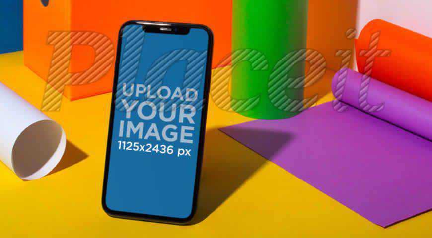 Black iPhone 11 Pro Photoshop PSD Mockup Template
