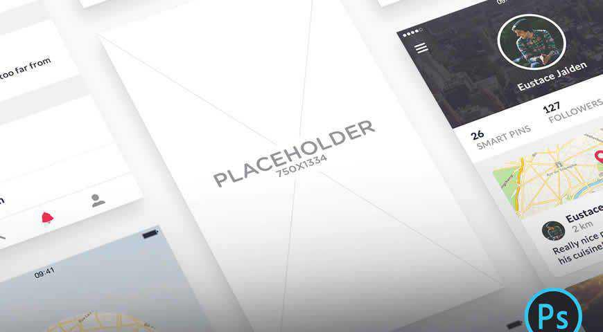 App Presentation Photoshop PSD Mockup Template