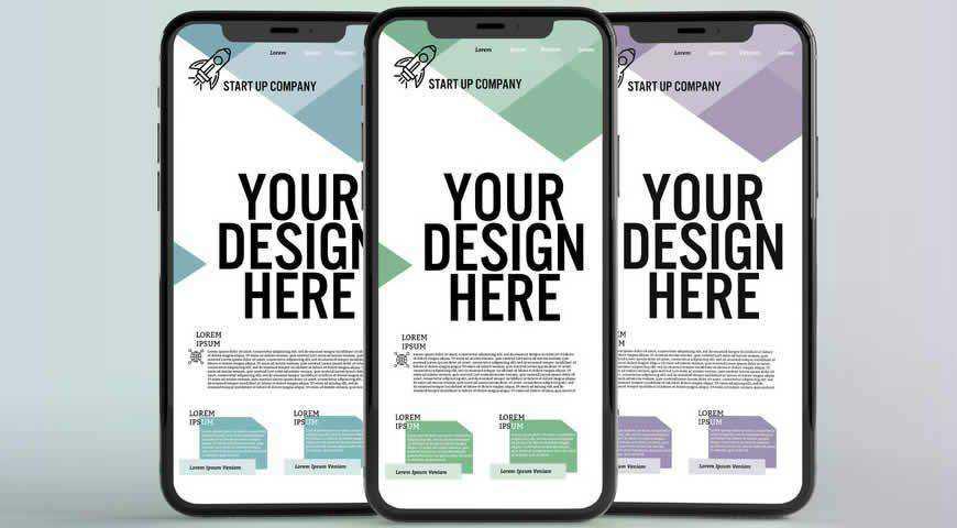 everal Smartphones Photoshop PSD Mockup Template