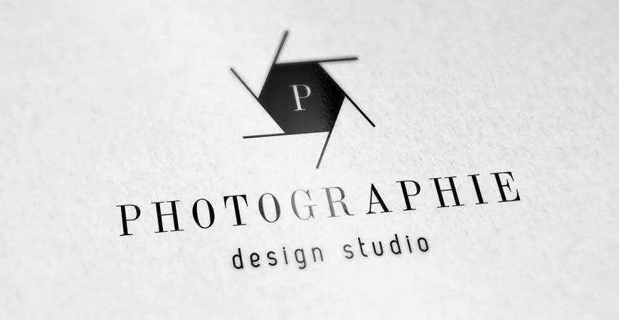 photographer camera Minimal Photography Logo Template
