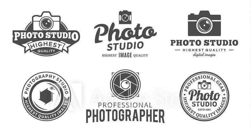 Studio Logos Labels Icons photographer camera photography