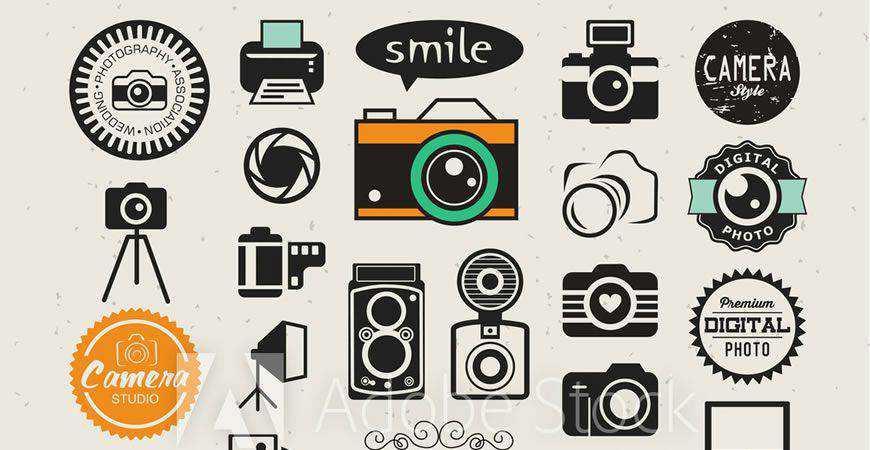 Vector Photography Logo Template Collection photographer camera