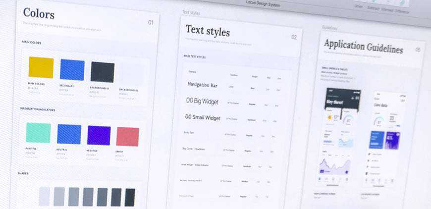 web design styleguide colors typography portfolio