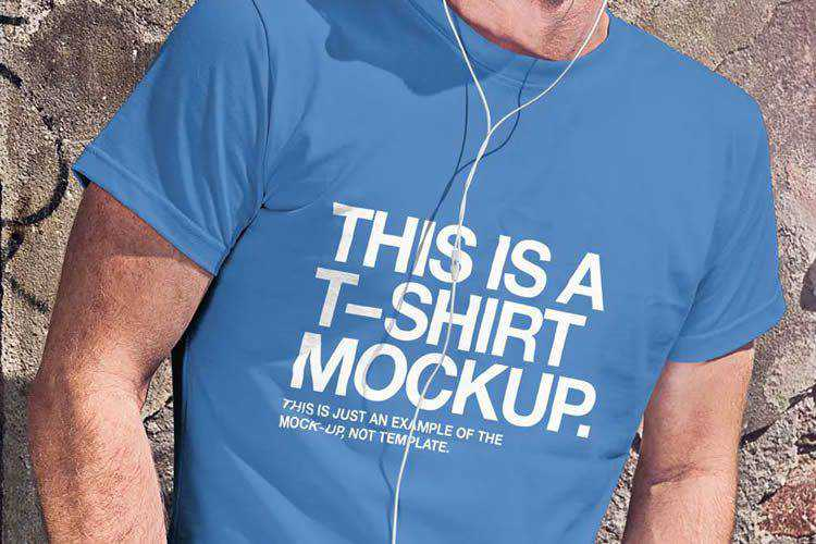 Example of 25 High-Quality T-Shirt PSD Mockup Templates for Photoshop