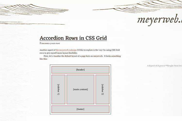 Example of Accordion Rows in CSS Grid