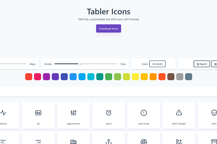 Example from Tabler Icons