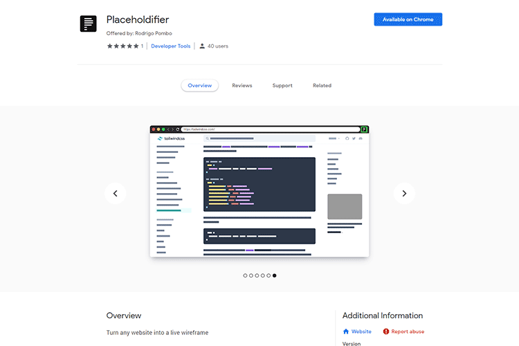 Example from Placeholdifier