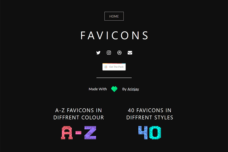 Example from Favicons