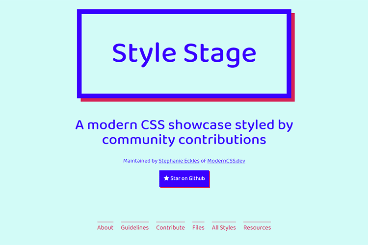 Example from Style Stage