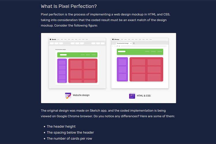 Example from The State of Pixel Perfection