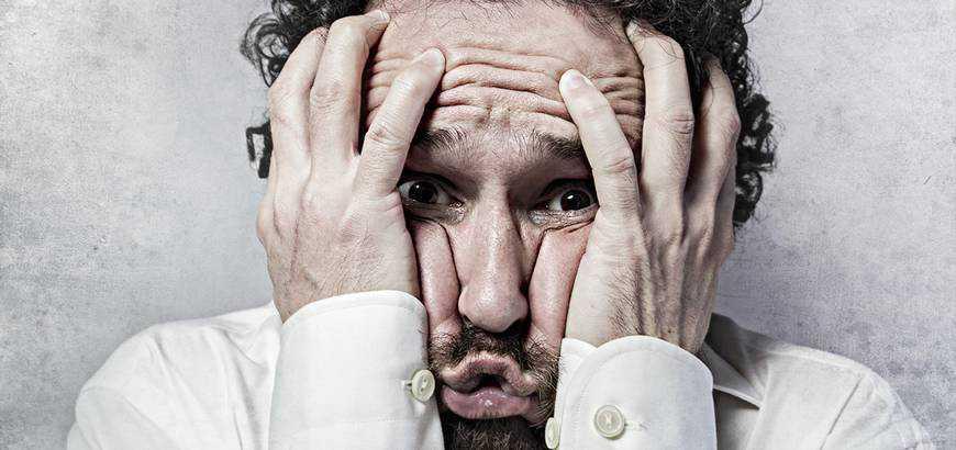 panic client designer beard man