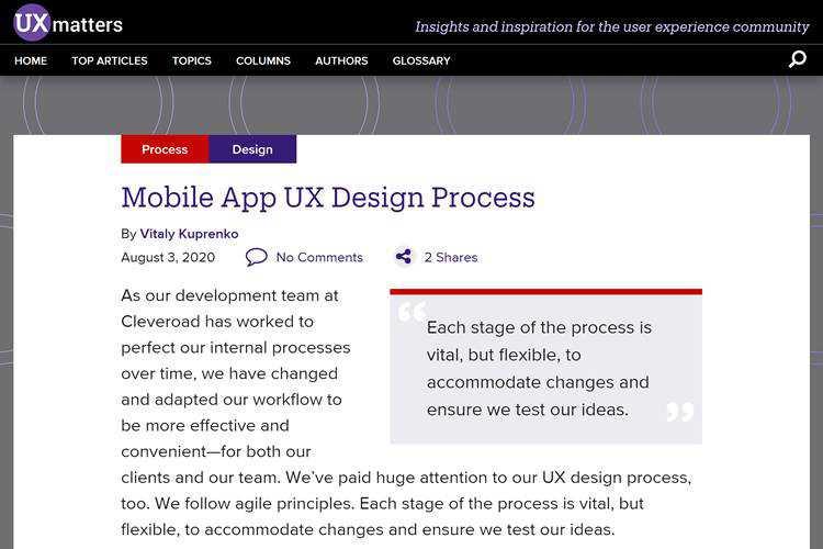 Mobile App UX Design Process