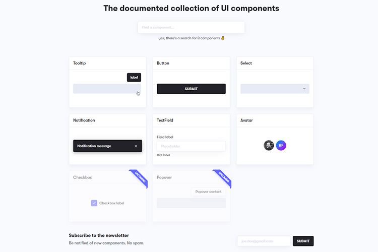Example from UI Playbook