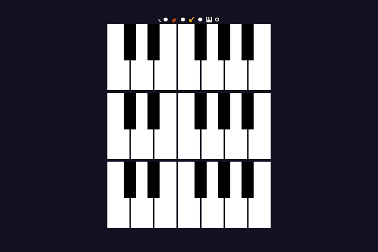 Example from 1Keys – How I Made a Piano in only 1kb of JavaScript