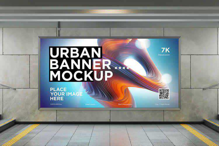 Example from The 20+ Best Banner Mockup Templates for Photoshop