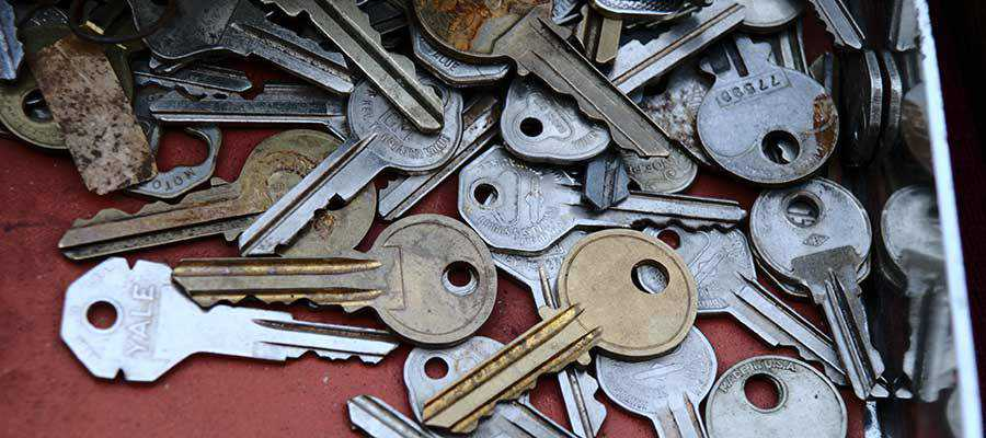 An assortment of keys.