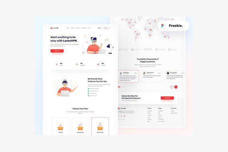 Example from Free Landingpage-LaslesVPN Template