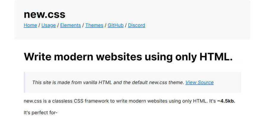 Example from new.css