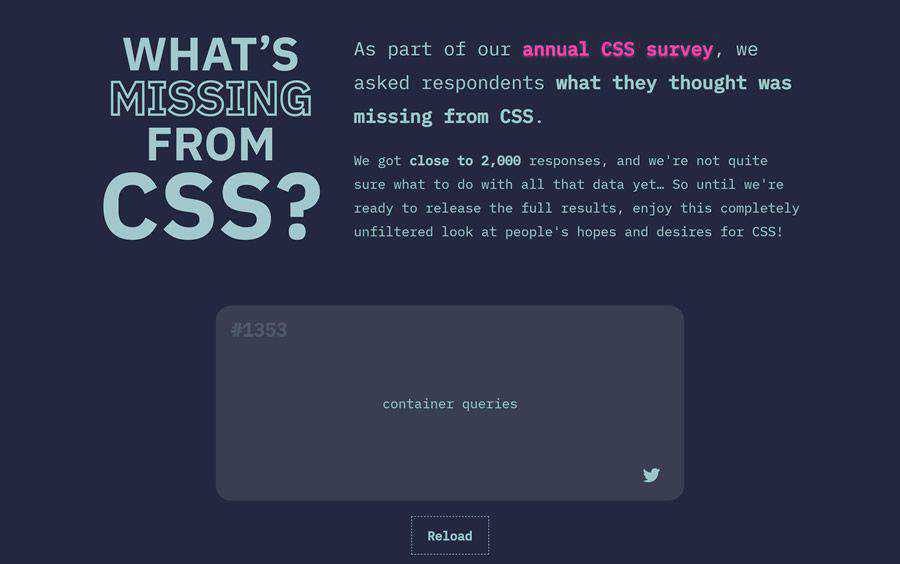 Example from What's Missing From CSS?
