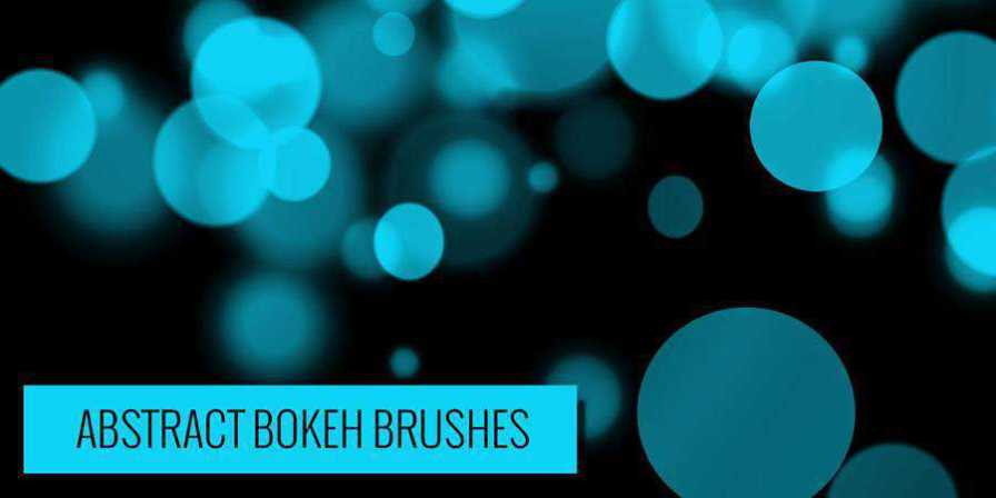 Free Photoshop Abstract Bokeh Brushes there are 24 Brushes in the pack