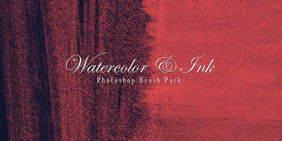 Watercolour and Ink Photoshop Brushes free photoshop brushes ABR