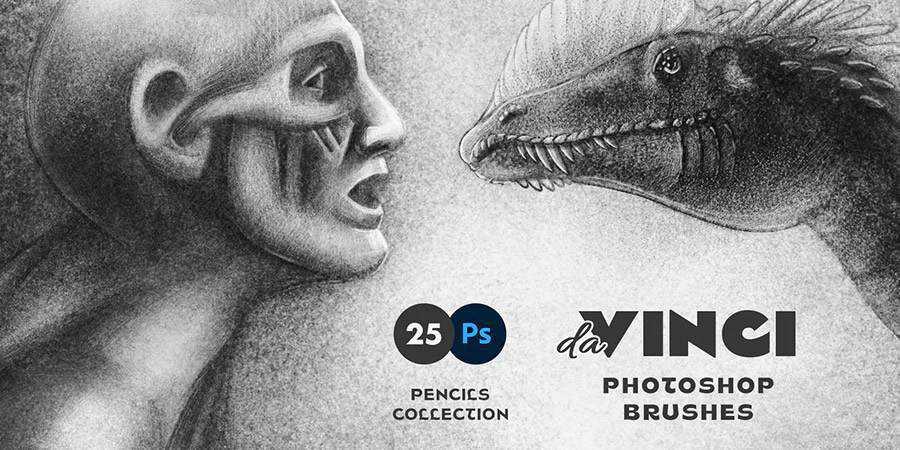Da Vinci Pencil Photoshop Brushes ABR