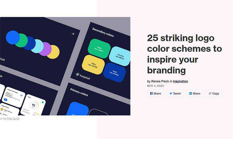 Example from 25 striking logo color schemes to inspire your branding