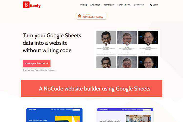 Example from Siteoly