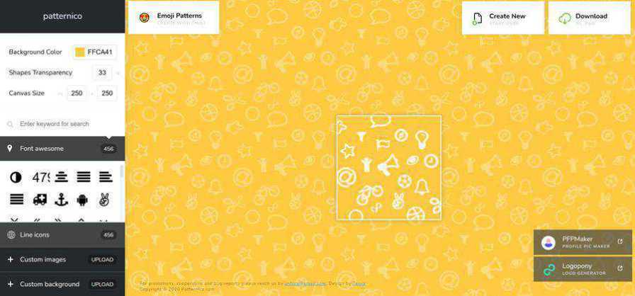 patternico patterns web-based tool free web design example