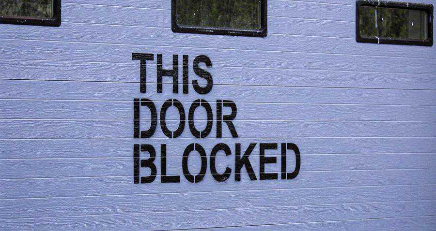 this door is blocked